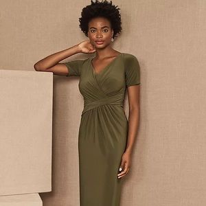 Anthropologie BHLDN Chelle Dress - Sz 2 Olive NWT